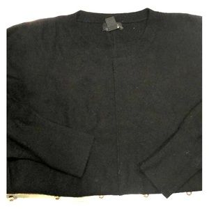 JCREW cashmere dolman sleeve black sweater XS